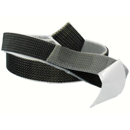 M-Lock Heavy Duty Paddestoelband zelfklevend (plakbaar voorzien van plakstrip), 25 mm. breed, zwart
