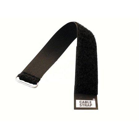 CableStrap, 25 mm. breed met gesp, zwart
