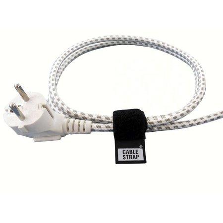 CableStrap, 50 mm. breed met gesp, zwart