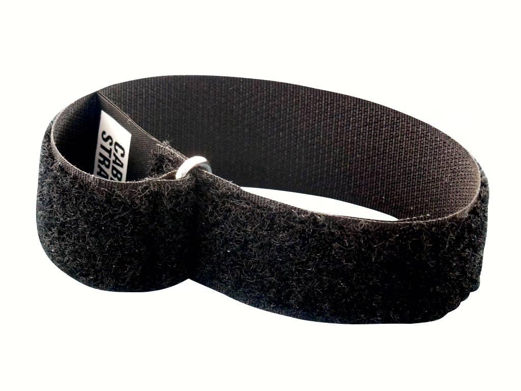 CableStrap kabelbinder, 50 mm. breed met gesp, zwart - Klittenband ...