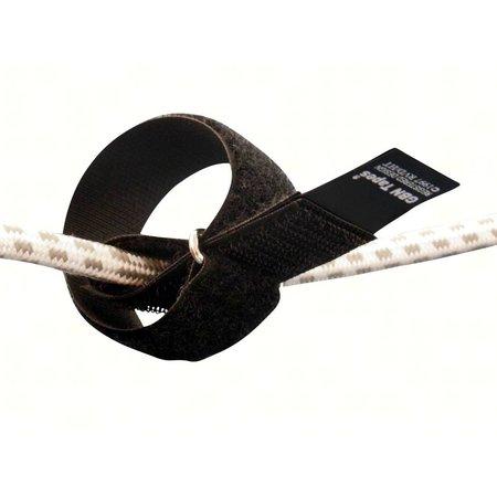 CableStrap kabelbinder, 50 mm. breed met gesp, zwart