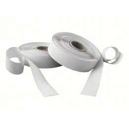 Klittenband plakbaar, 10 mm. x 25 m. wit