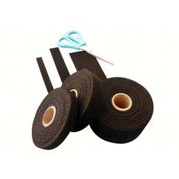 Bundelband soepel, 16 mm. x 25 m., zwart