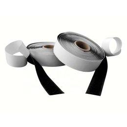 Klittenband plakbaar, 10 mm. x 25 m. zwart