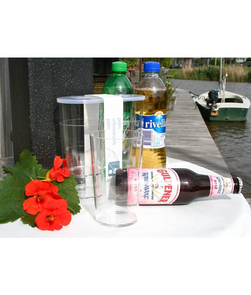 Palm Products Onbreekbaar Bier / Fris / Water Glas SET(4) Luxe Party Serie - BPA Vrij PM 421