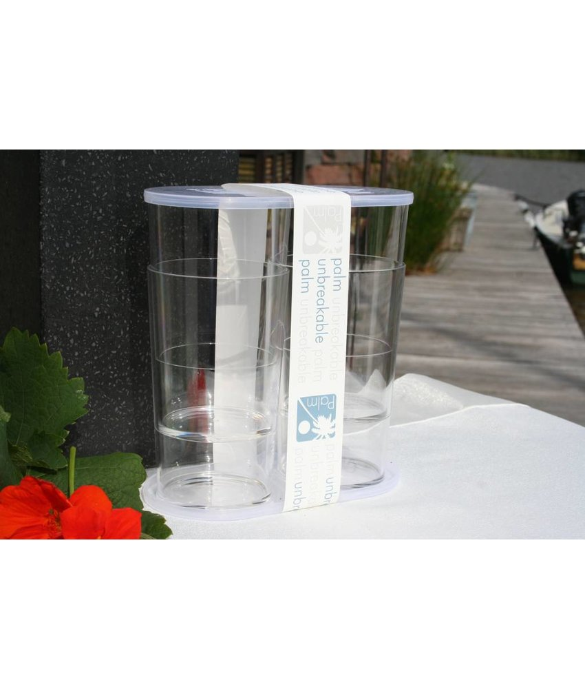 Onbreekbaar Bier / Fris / Water Glas SET(4) Luxe Party Serie - PM 421