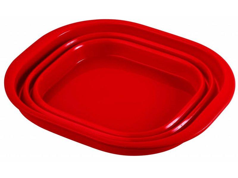 De ultieme duurzame opvouwbare afwasteil. Red