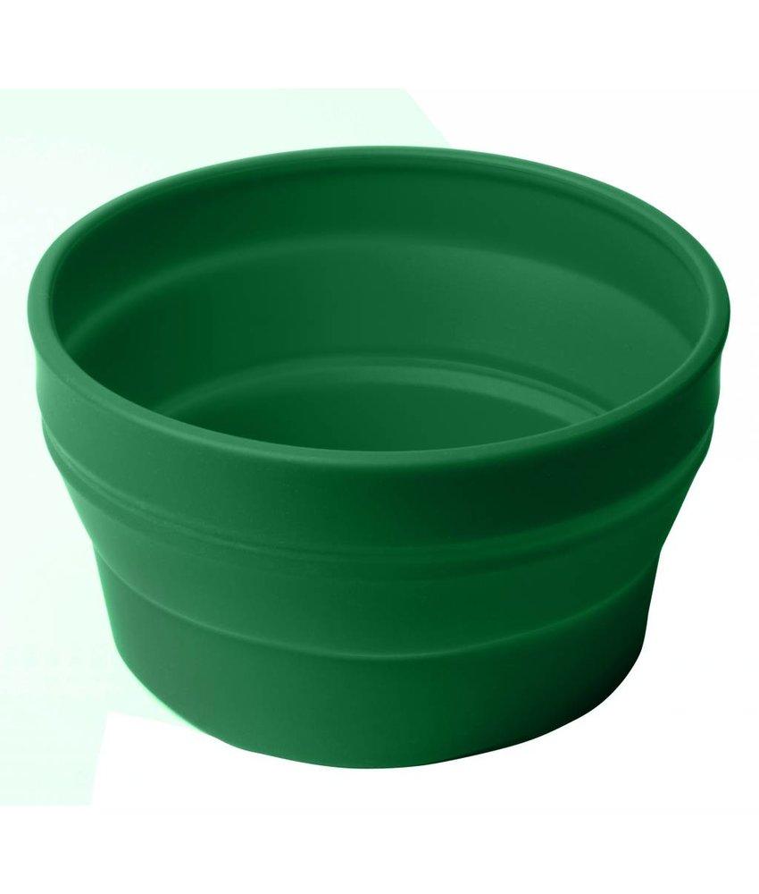 Opvouwbare Schaal / Sla Schaal ( ook te gebruiken voor uw huisdier ) GROEN - Siliconen