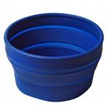 Opvouwbare Duurzame Schaal / Sla Schaal ( ook te gebruiken voor uw huisdier ) BLAUW - hoge kwaliteit Siliconen