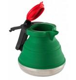 Opvouwbare Waterketel siliconen/rvs 1.1 L. Groen