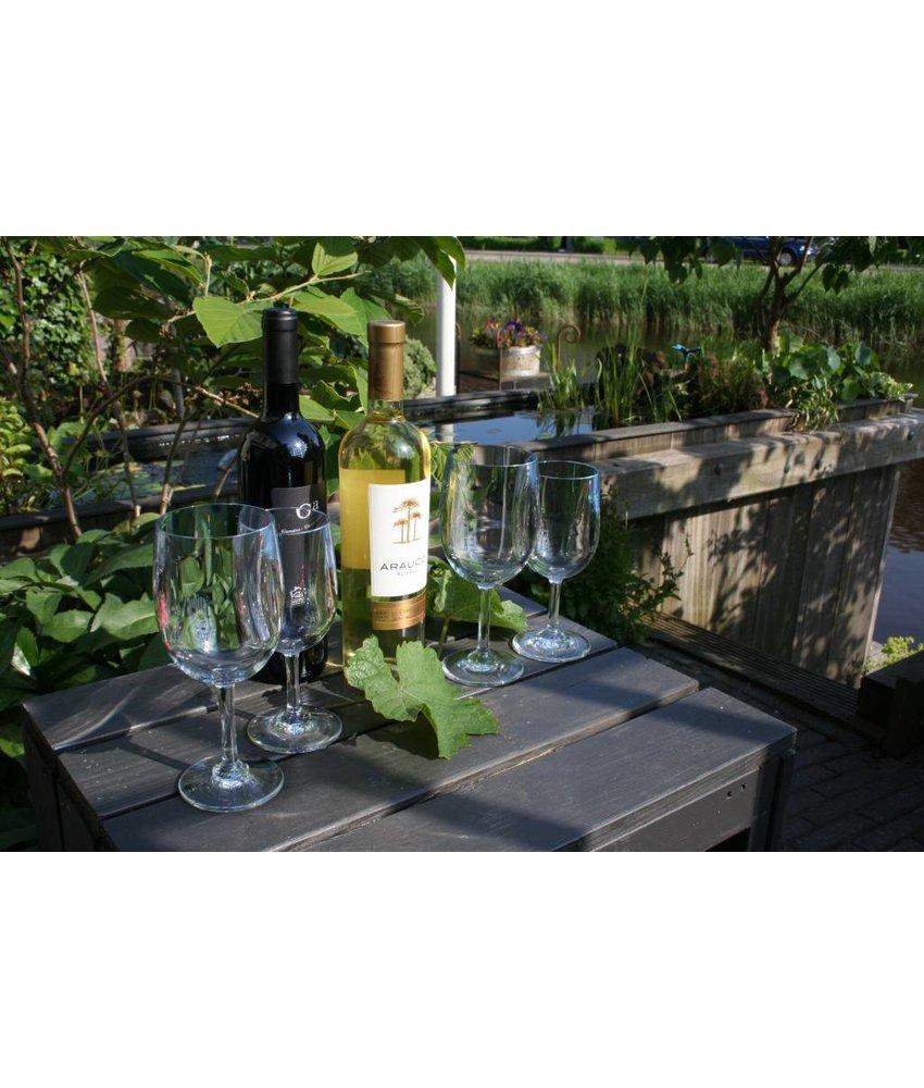 Unieke 5* Wijnglazen 2+2 Classic Wijnglas 2x0.39ltr 2x0.24ltr Strahl onbreekbaar