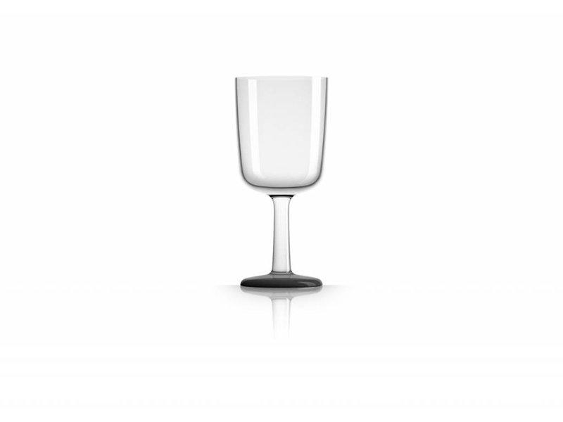 Wijnglas onbreekbaar Marc Newson Zwarte voet antislip
