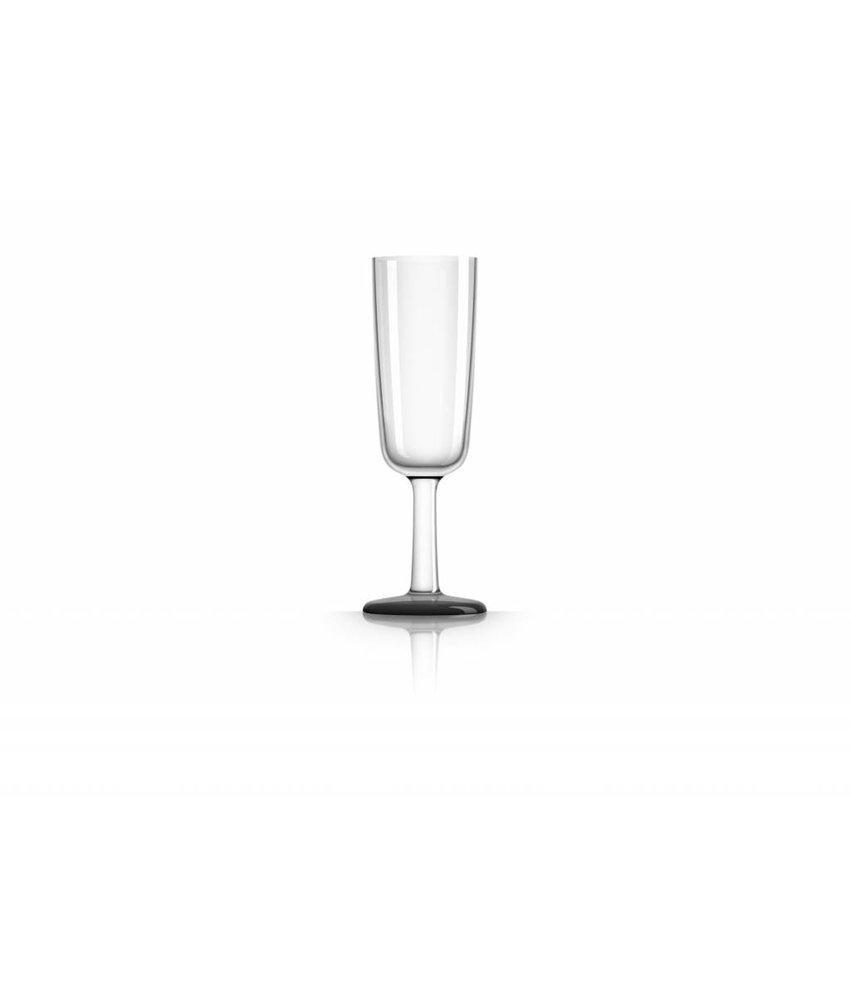Flute onbreekbaar glas Marc Newson Zwarte voet antislip - TRITAN