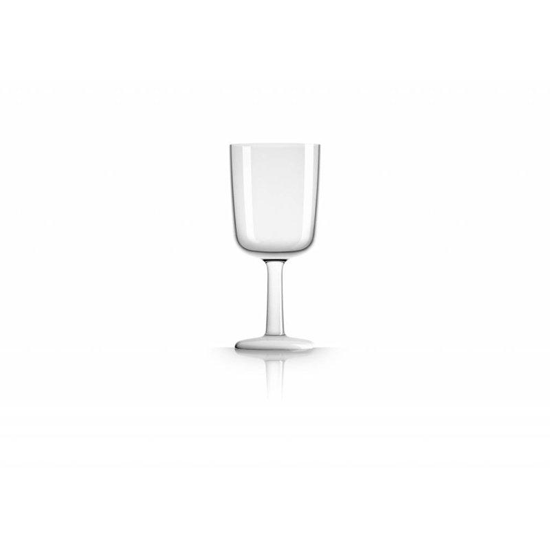 Wijnglas onbreekbaar Marc Newson Witte voet antislip - TRITAN