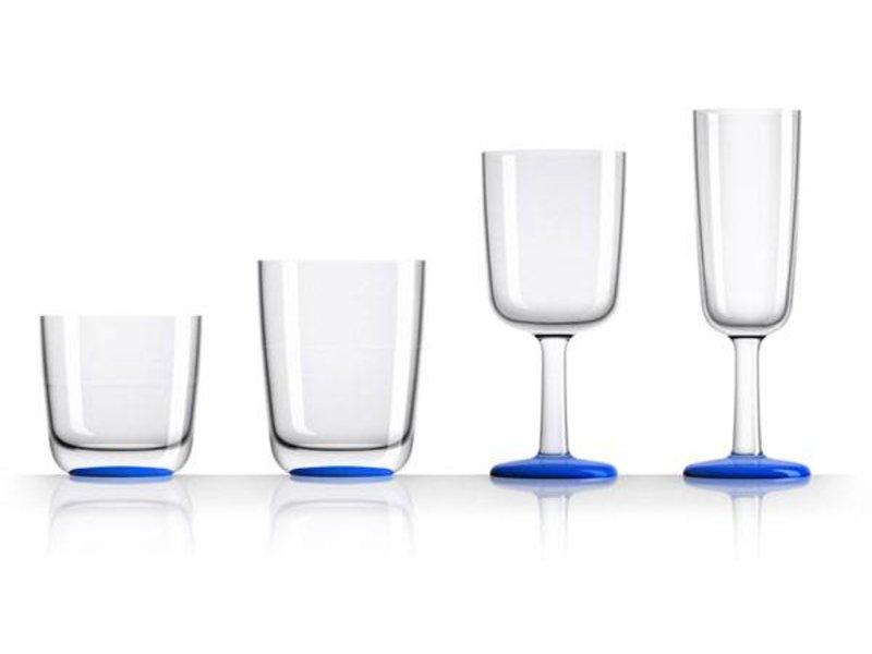 Champagne glas onbreekbaar Marc Newson Navy Blauwe voet Antislip