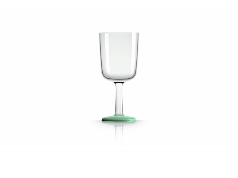 Wijnglas Marc Newson onbreekbaar Groene Glow in the Dark voet antislip