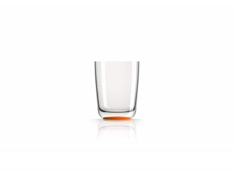 Hoog Glas- Fris / Water / Bierglas onbreekbaar Marc Newson Oranje voet antislip