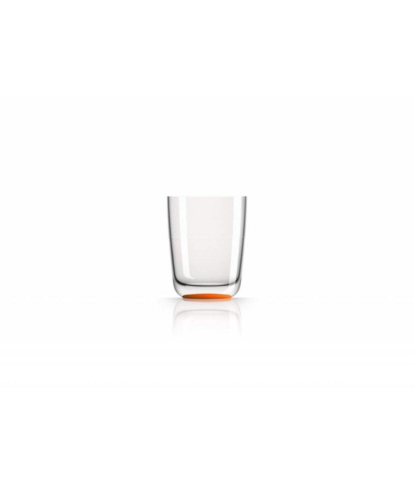 Hoog Glas / Bierglas onbreekbaar Marc Newson Oranje voet antislip - TRITAN