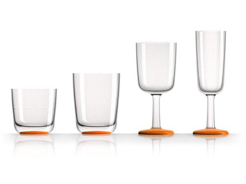 Wijnglas Marc Newson Onbreekbaar Oranje voet antislip