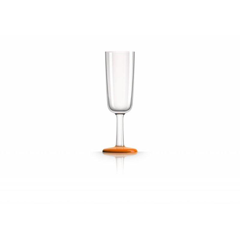 Flute glas onbreekbaar Marc Newson Oranje voet Antislip - TRITAN