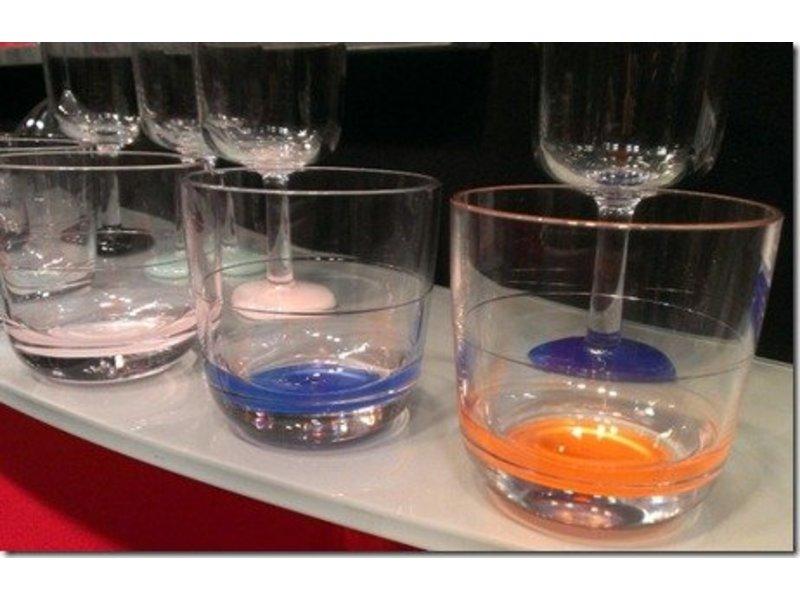 Laag Onbreekbaar Glas ( wijnglas zonder pootje ) Marc Newson Licht Blauwe voet antislip