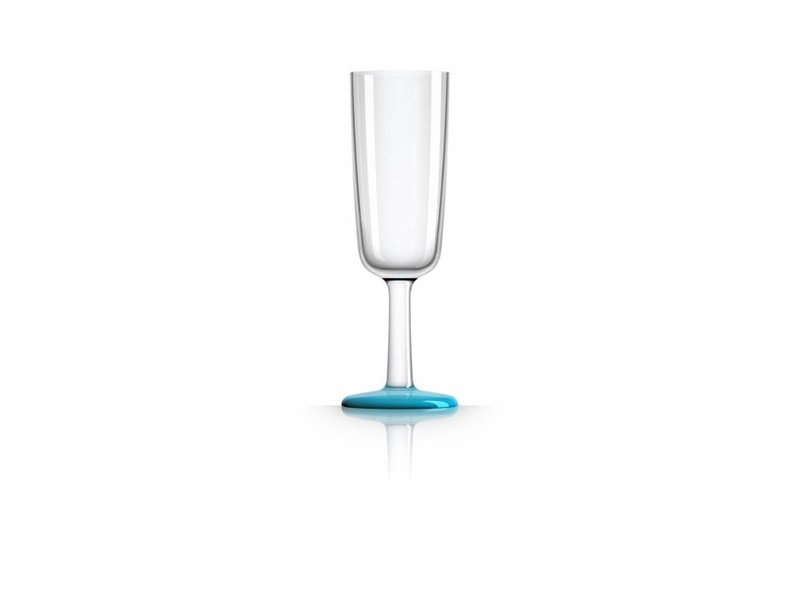 Flute glas onbreekbaar Marc Newson Licht Blauwe voet Antislip van TRITAN