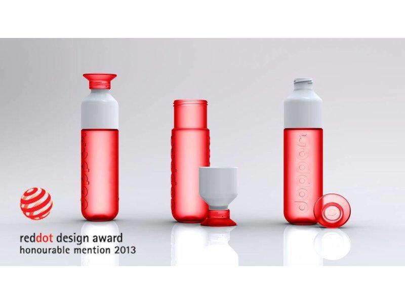 DOPPER RODE WATERFLES 0.5 ltr. | Red dot Award | Het Duurzame waterflesje