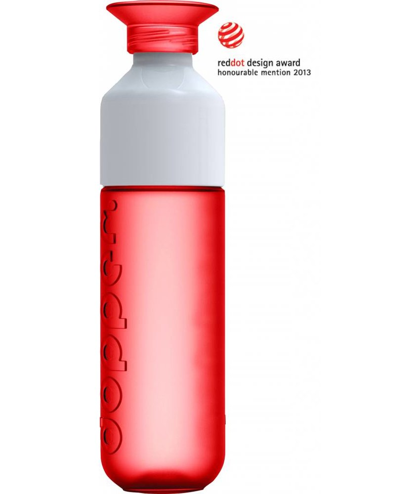 DOPPER ROOD / RED WATERFLES 0.5 ltr. | Red dot Award | Het Duurzame waterflesje