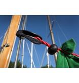 Waslijn elastisch zonder knijpers 1-4 mtr Blauw