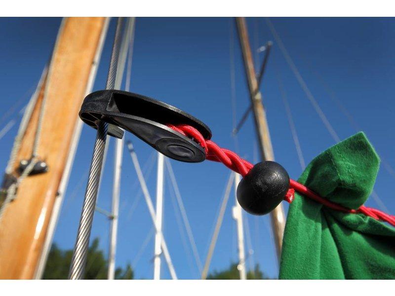 Waslijn elastisch zonder knijpers 1-4 mtr Rood - Voordeel aktie per 2