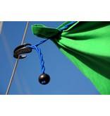Waslijn elastisch zonder knijpers 1-4 mtr Blauw - Voordeel aktie per 2