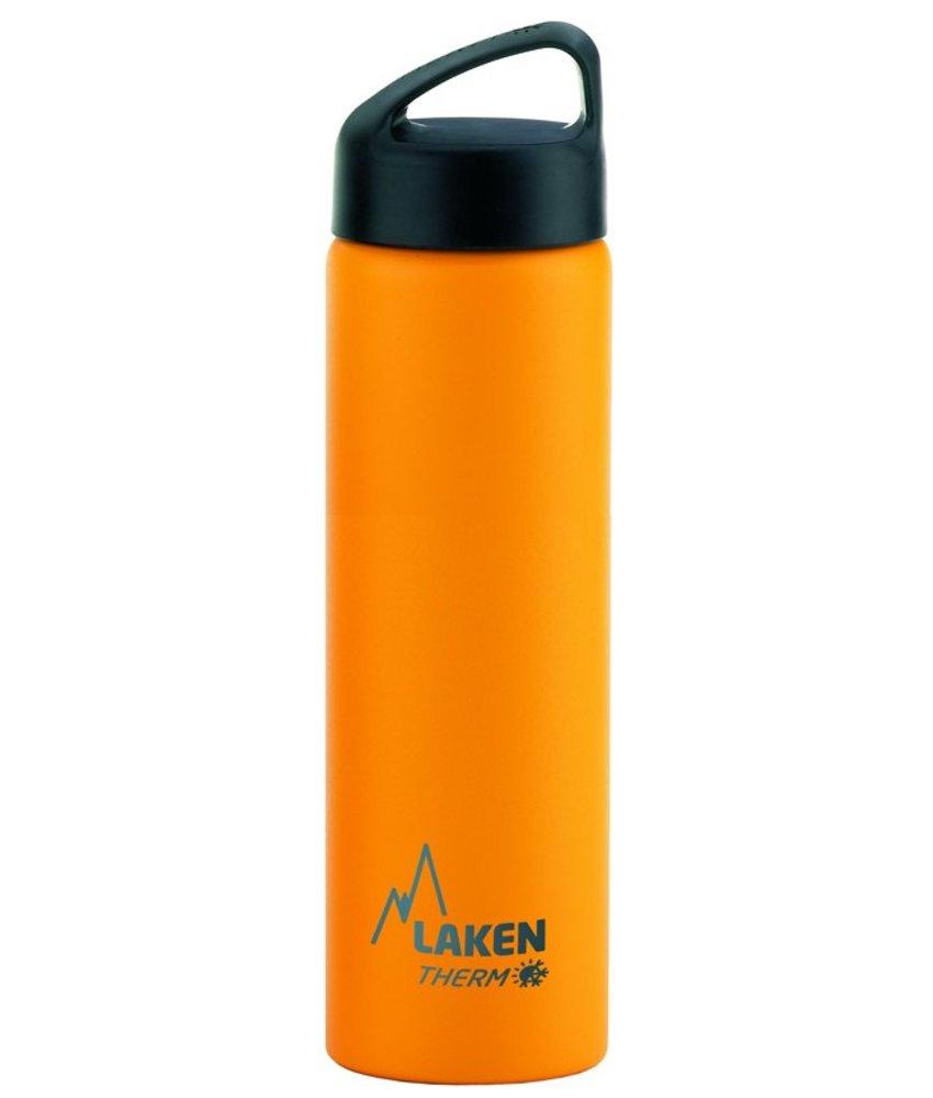 Dubbelwandige Fles - 0.75 ltr. TA7Y - kleur: GEEL - RVS - CLASSIC - Merk: LAKEN Since 1912