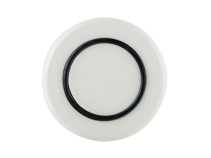 Sorona Palm - Klein Bord ( 21 cm ) Onbreekbaar Warm Wit met antislip rand in: Zwart