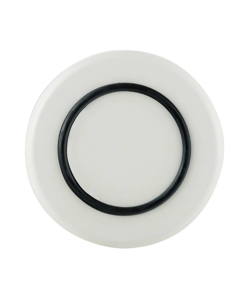Klein Bord ( 21 cm ) Sorona Palm Products Onbreekbaar Warm Wit met antislip rand in: Zwart