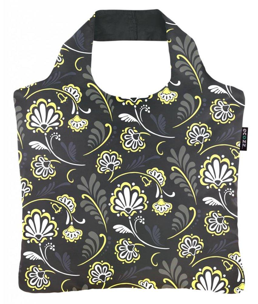 ECOZZ Tas Eco Tas met rits - Scherpste ALL IN aktie prijs - Design: Ornamental Flowers OR02 - Opvouwbaar - Duurzaam