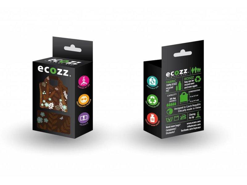 ECOZZ Tas Eco Tas met rits - Scherpste ALL IN aktie prijs - Design: Nature NT01 - Opvouwbaar - Zeer sterk - Duurzaam