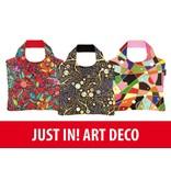 ECOZZ Tas Eco Tas met rits - Scherpste ALL IN aktie prijs - Design: Art Deco 1 AD01 - Opvouwbaar - Zeer sterk - Duurzaam
