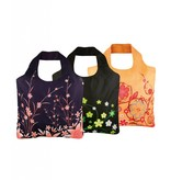 ECOZZ Tas Eco Tas met rits - Scherpste ALL IN aktie prijs - Design: Flowers 2 FL02 - Opvouwbaar - Zeer sterk - Duurzaam