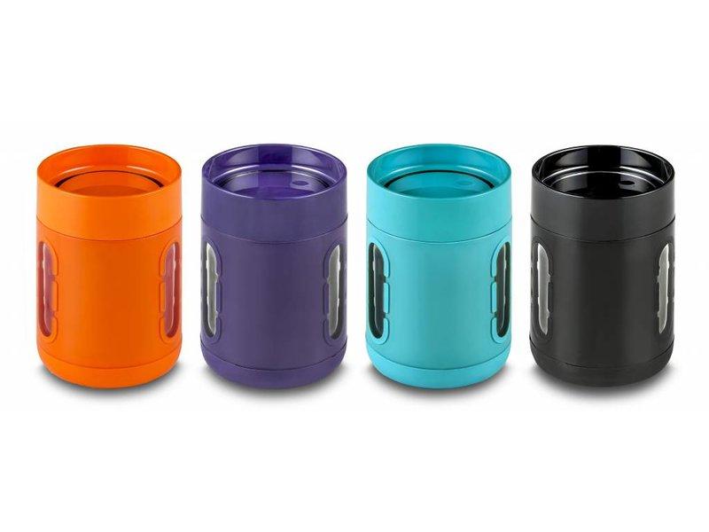 Innovatieve Koffie Mok / Koffie beker - Stijlvol - Praktisch - Antislip bodem - Met Kijkvensters - Kleur: Zwart