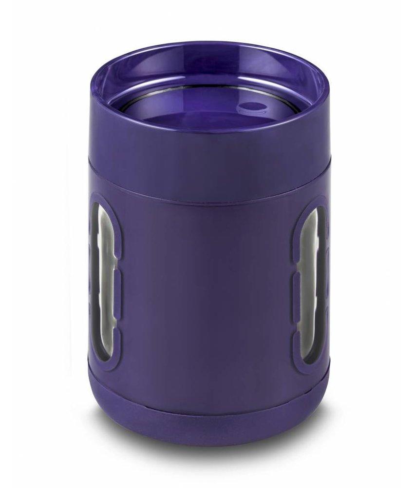 Innovatieve Koffie Mok / Koffie beker - Stijlvol - Praktisch - Antislip bodem - Met Kijkvensters - Kleur: PAARS