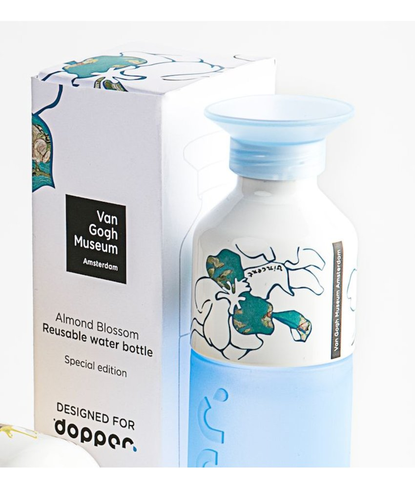 Dopper ( 1=1 aktie van Gogh Waterfles ) Special Edition: van Gogh - Dopper Van Gogh - Blauw - Almond Blossom Blue