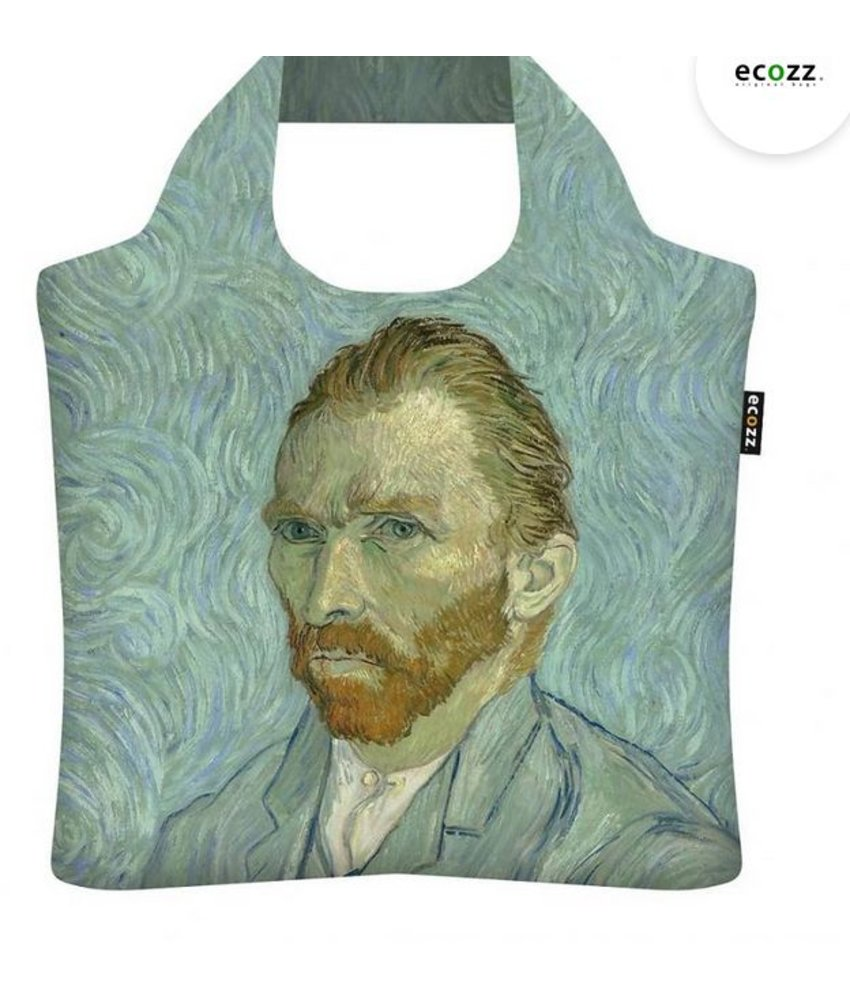 """ECOZZ Tas - Gold Edition """" Zelfportret van Gogh"""" """" GCVG02"""" - Scherpste ALL IN aktie prijs - Tas met rits - Opvouwbaar - Duurzaam"""