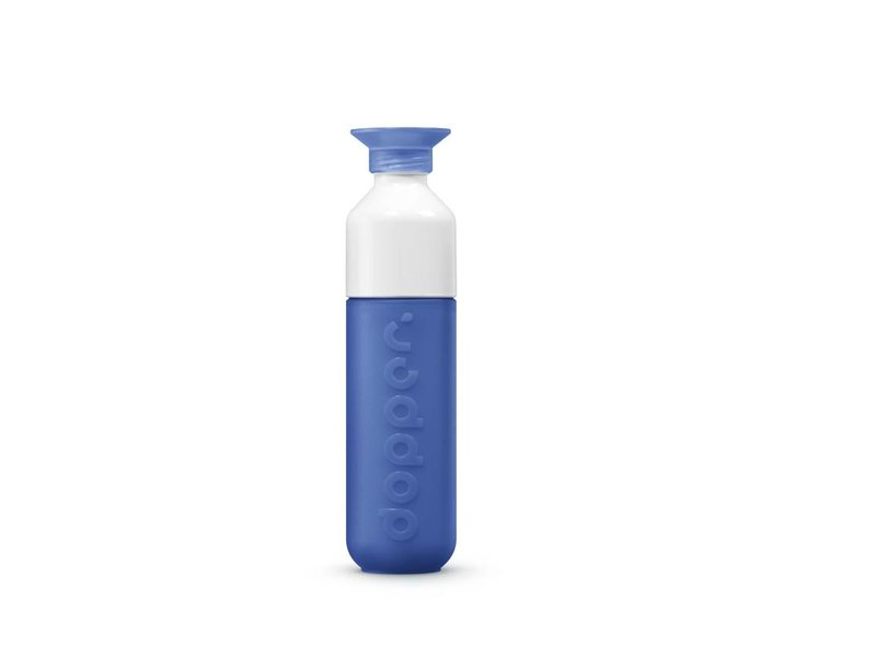 Dopper Drinkfles Waterfles DOPPER kleur:  Pacific Blue / Donker Blauw. De unieke Dopper Waterfles / Drinkfles