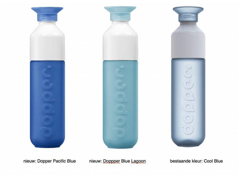 Dopper Blue Lagoon / IJS Blauw. ( NIEUW ) De unieke Dopper Waterfles / Drinkfles