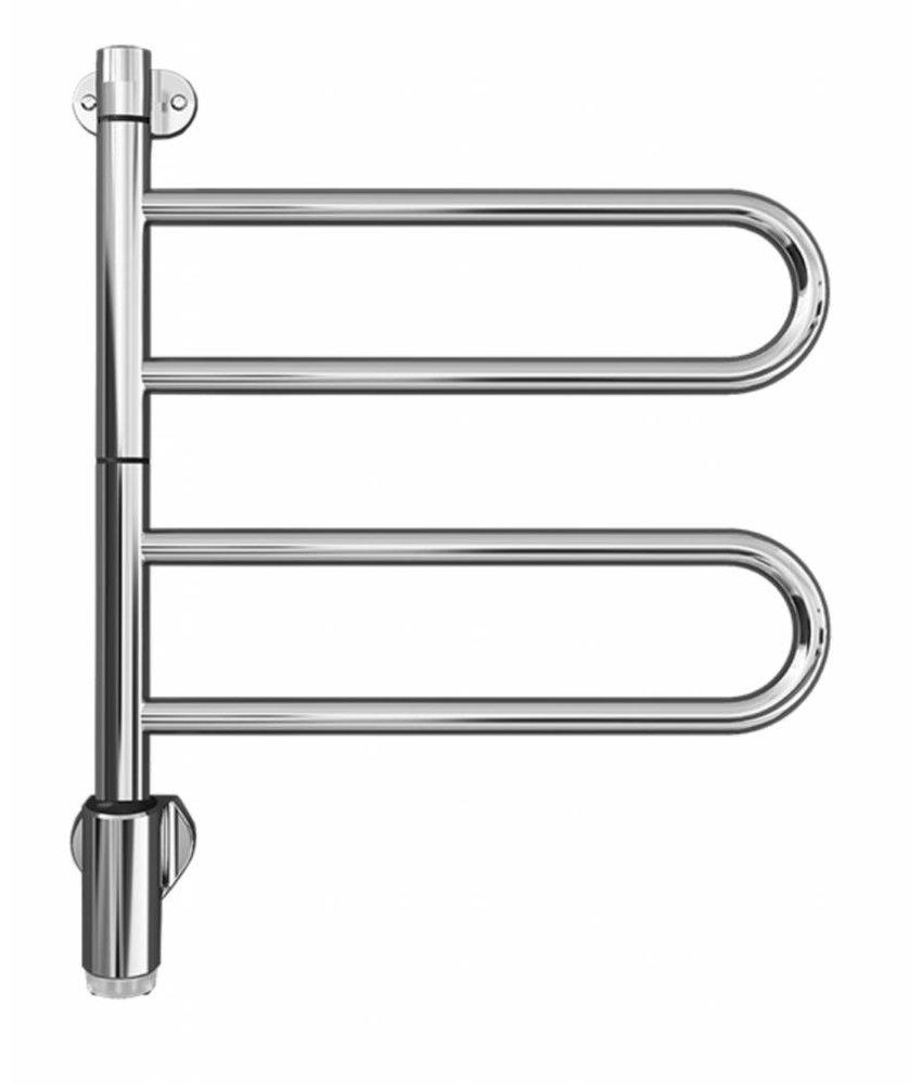 Electrische Handdoekdroger PAX Flex U Chroom - 28 W ( 2 x een dubbele buis ) Draaibaar