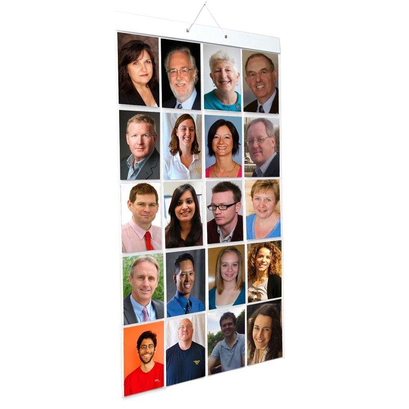 NIEUW !! Foto Insteek Hoes Poster - PORTRET - 40 foto's in 20 insteekvakken - Alleen voor portretfoto's