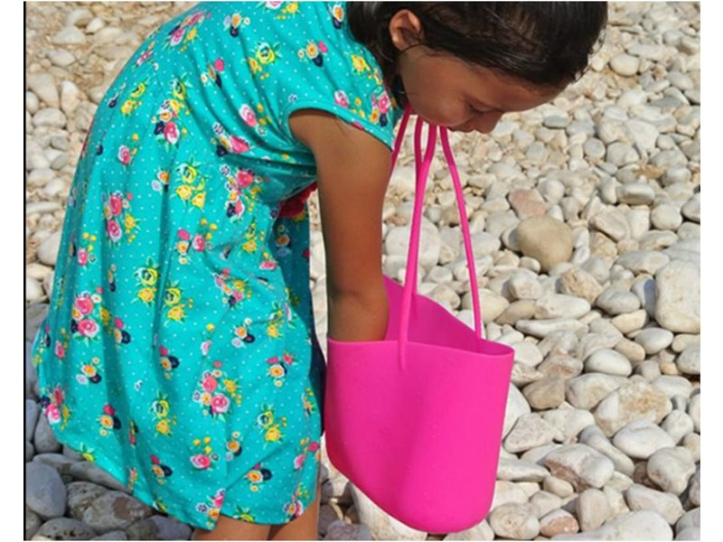 Funkit World Scrunch Siliconen Beach / Strand Tas voor kinderen - Kleur: PINK