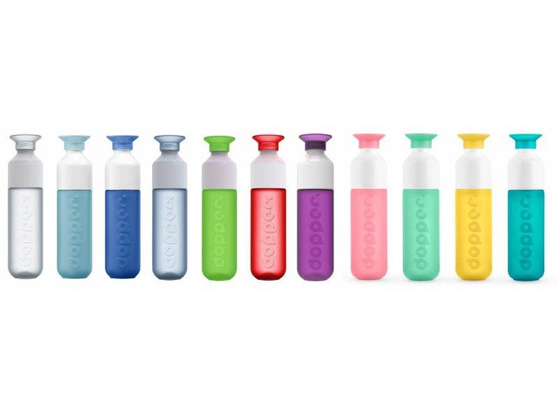Dopper Drinkfles Waterfles DOPPER kleur: GEEL ( Sunshine Splash ) 0.45 ltr. Dopper Drinkfles ( Paradise Collection )