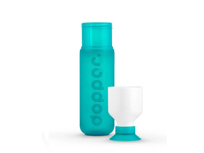 Dopper Drinkfles - Waterfles Dopper kleur: ZEEGROEN ( Sea Green ) 0.45 ltr. Dopper Drinkfles ( Paradise Collection )