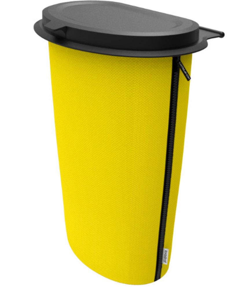 Flextrash Flextrash  Prullen Afvakbak houder MAAT L = 9 liter - Stof : Complete Kvadrat  de luxe  - Joyfull Yellow